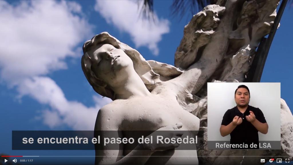 Audiovisual Accesible sobre el Rosedal Palermo